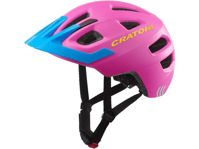 Cratoni Maxster Pro Casco Bambino, pink/blue matte